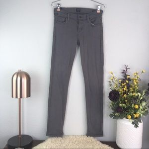 COH Avedon slick skinny leg mid rise grey gray
